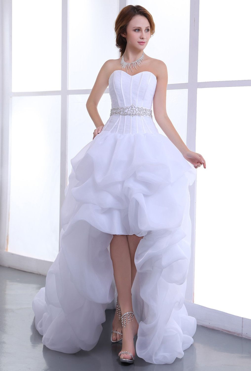 Cheap wedding dresses short front long back  Tamara Smith stamtam on Pinterest