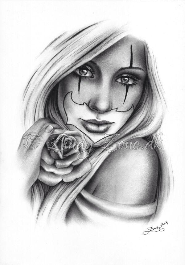 Sweet Chicano Clown Girl By Zindy On Deviantart Desenhos Para