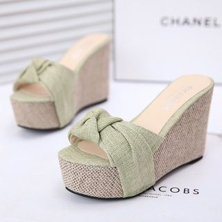 Buy IYATO Platform Wedge Peep-Toe Mules at YesStyle.com! Quality products at…