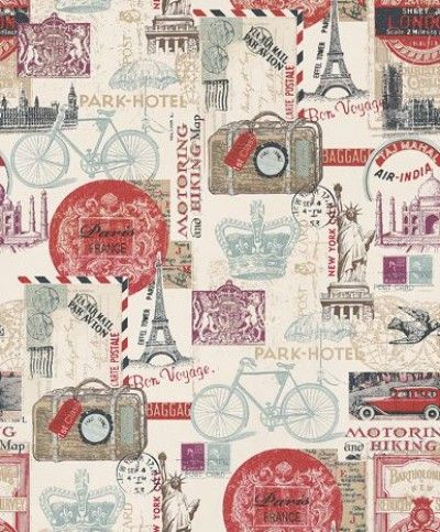 Postcards From Abroad 102516 Albany Wallpapers A Montage Of Images And Postcards Reflecting Travel Overseas Par Postcard Paris Wallpaper Decoupage Paper