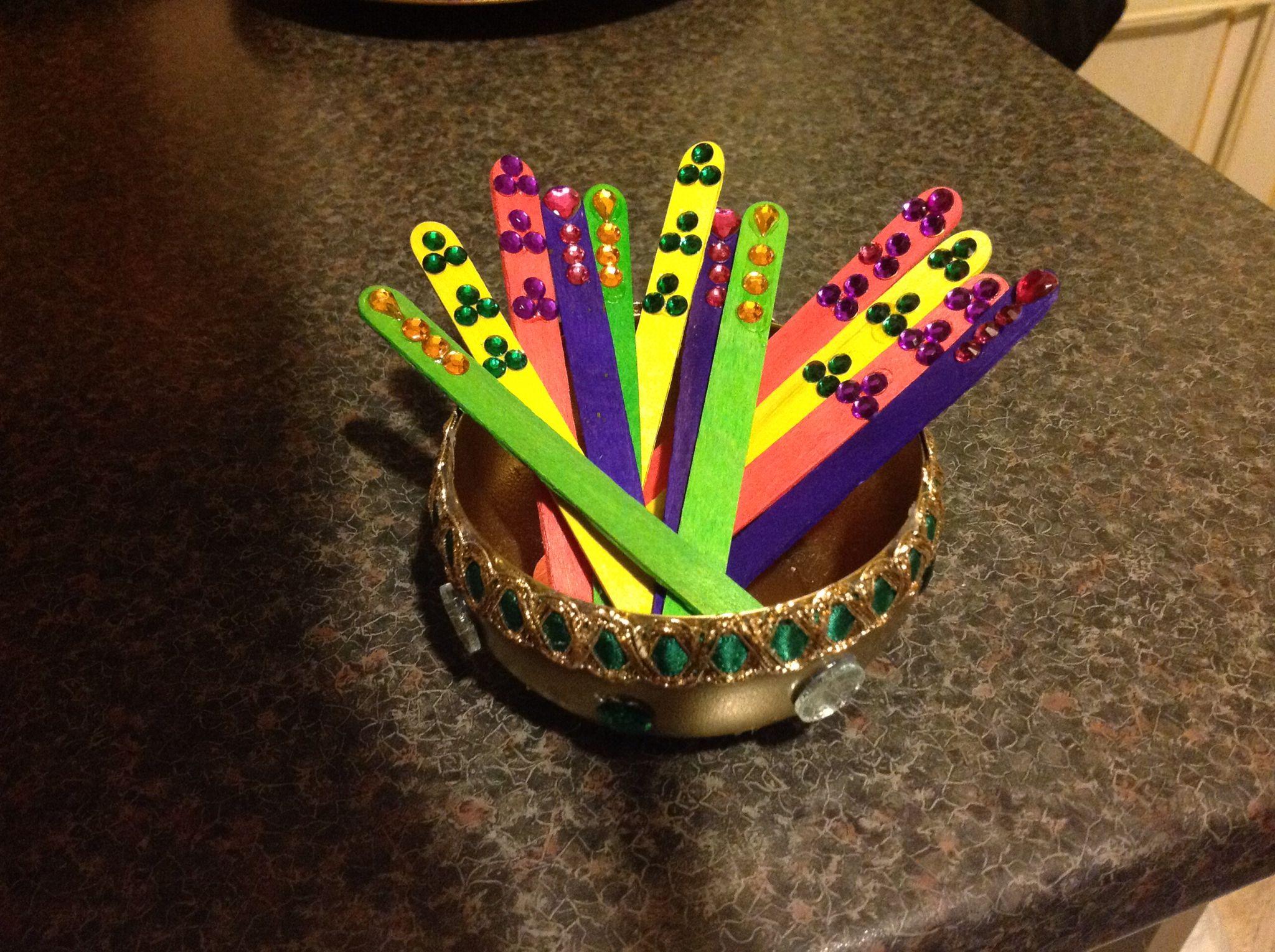 Diy Mehndi Plates : Hand decorated mehndi sticks see facebook