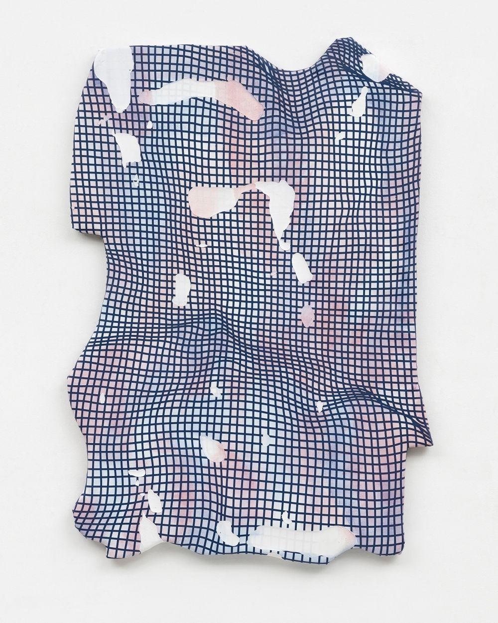 Jeremy DePrez - Untitled, 2015 acrylic and modeling paste on canvas 172,7 x 124,5 x 5 cm