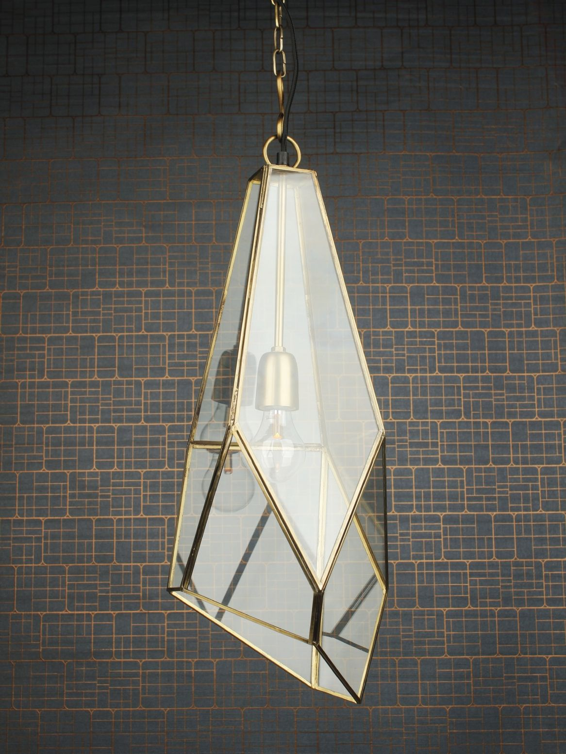 Details about Satin Brass And Brushed Nickel Leaded Stained Glass ChandelierPendant