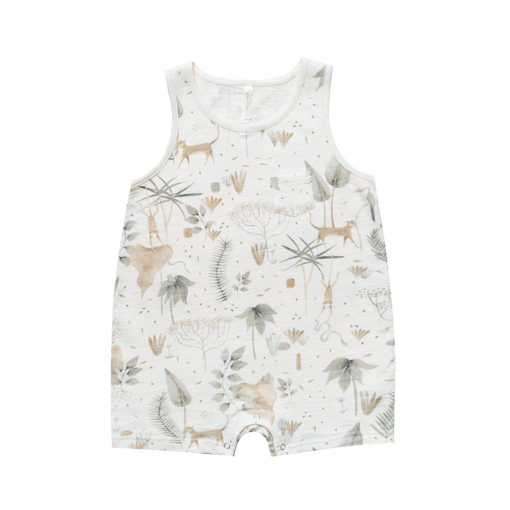 565a08e5a Jungle Sleeveless One Piece Jungle Print, Baby Baskets, Baby Gifts, Rompers,  One