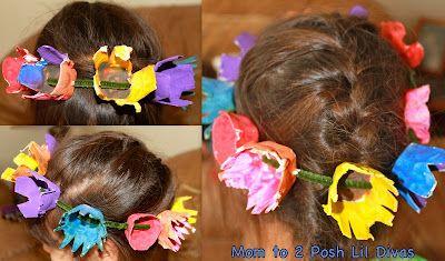 flower headband for fairies!