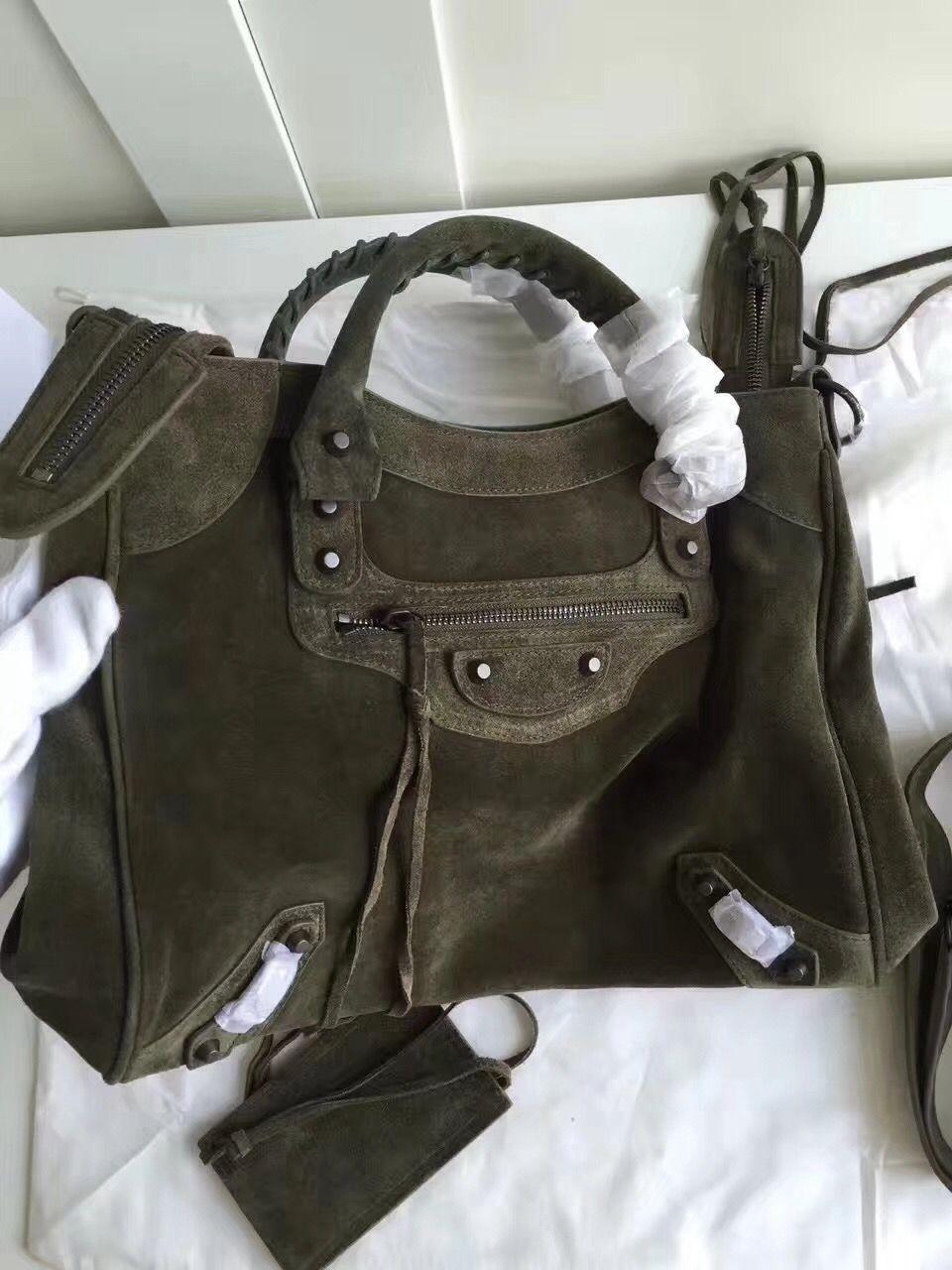 Balenciaga Classic Black Suede Leather