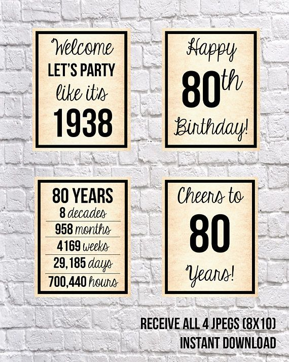 Pin By Sarah H On Dads 80th Happy 70 Birthday 80th Birthday