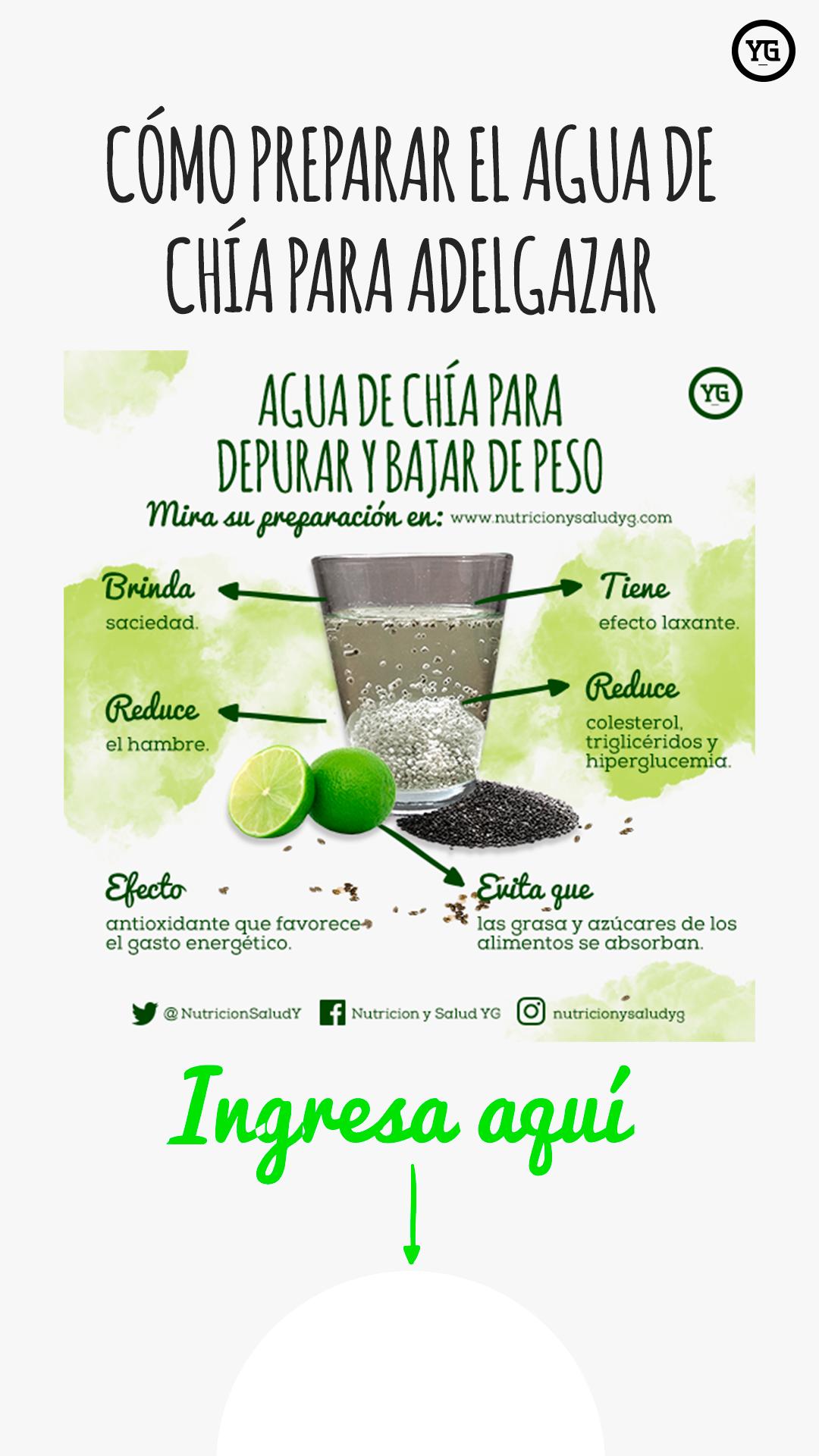 Cómo Preparar El Agua De Chía Para Adelgazar Detox Fast 21 Day Fix Meal Plan Healthy Drinks