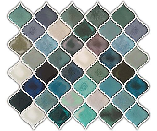 Stick On Tile Decorations Beauteous Pretty Possibly Kind Of Outgoinghue Decoration Turquoise Multi Design Decoration