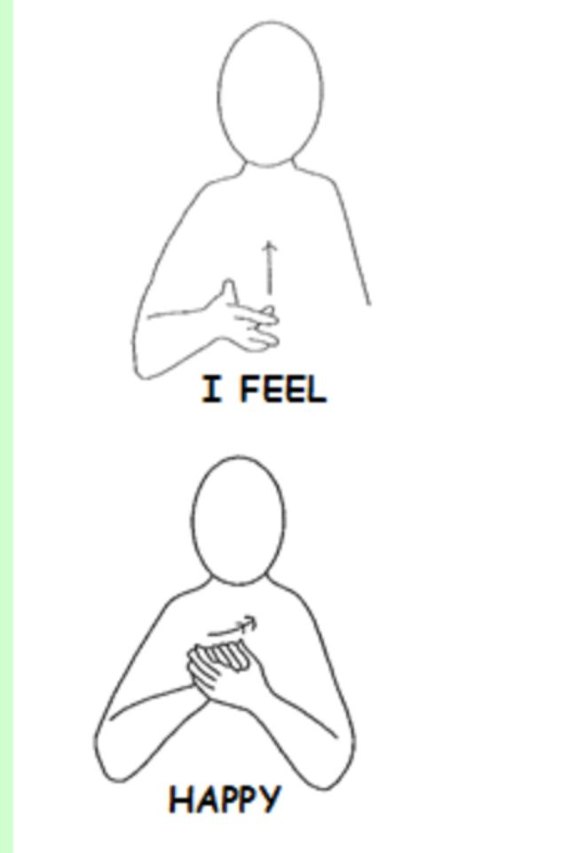 Image result for makaton happy