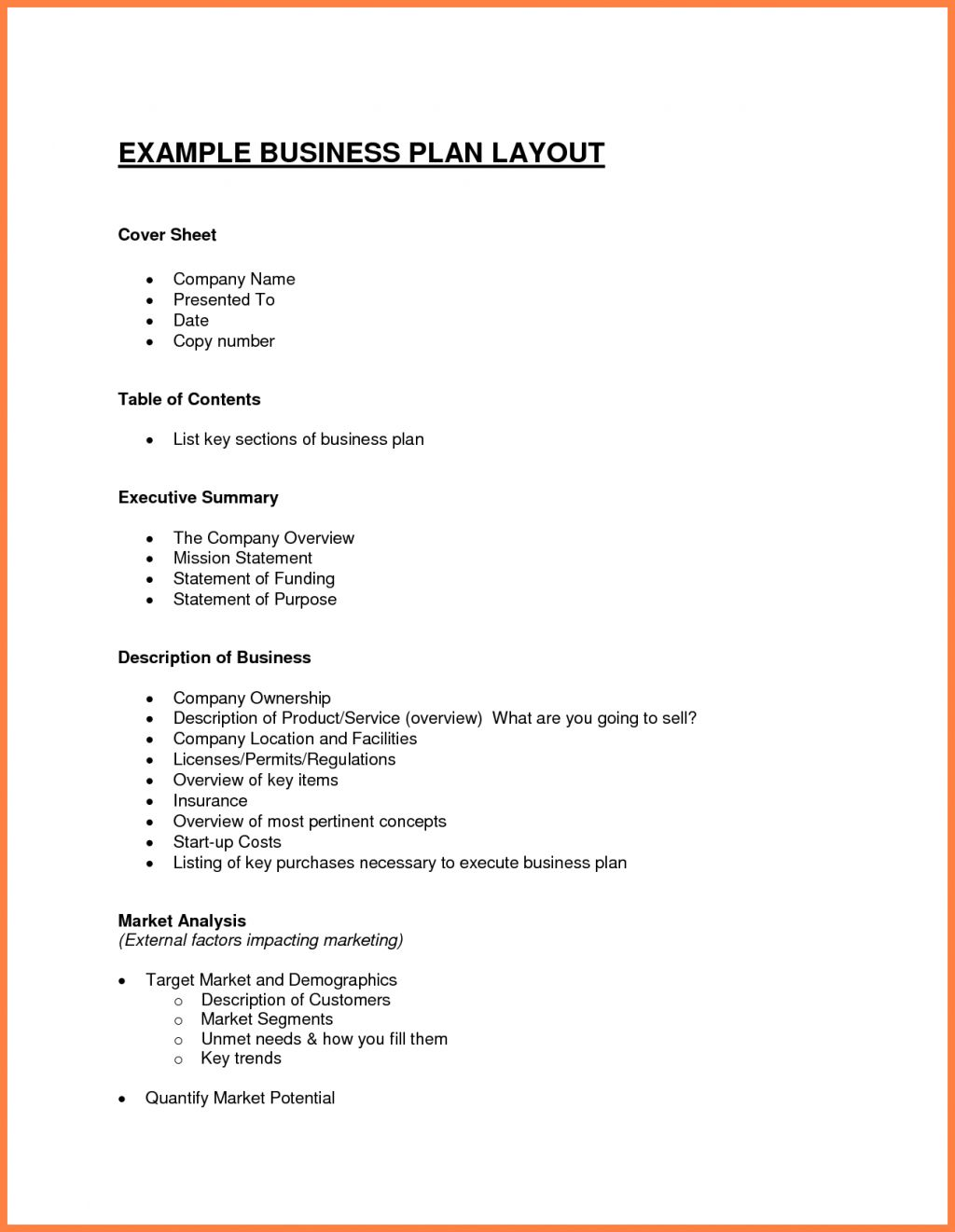 019 Business Plan Template Free Word Doc Samplet Example Inside