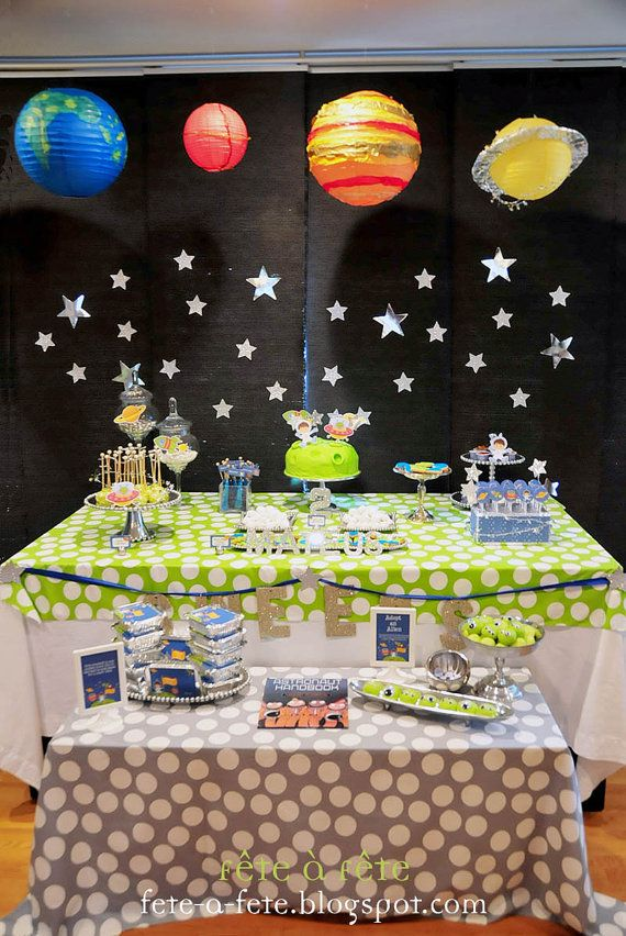 c332303a00d17 Little Astronaut Outer Space Editable and Printable Party Kit - As ...