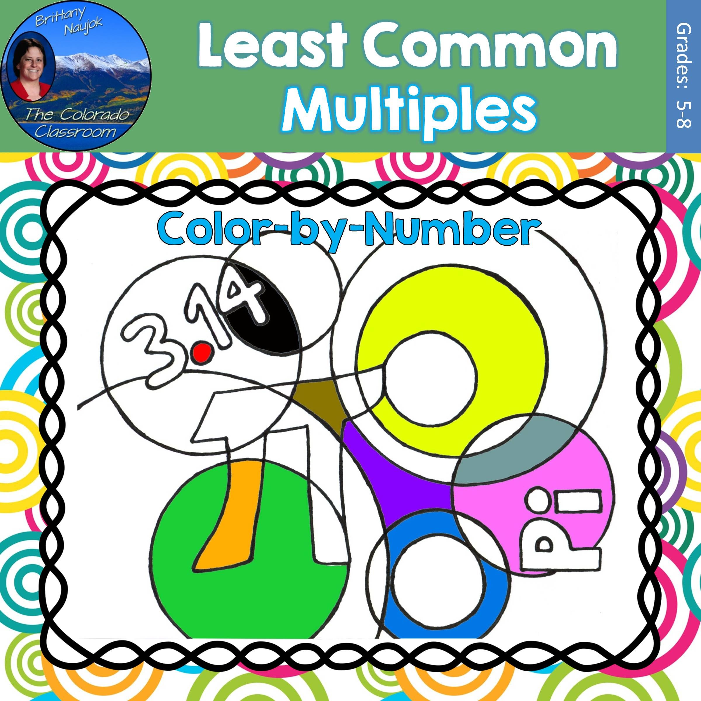 Least Common Multiple Lcm Math Practice Pi Day Color By