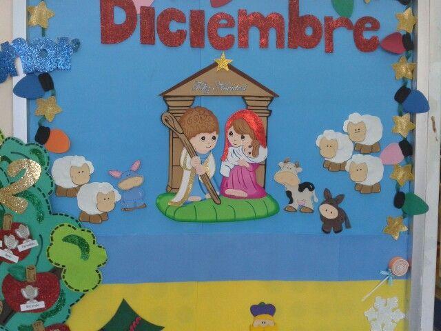 Periodico mural diciembre preescolar buscar con google - Murales decorativos de navidad ...
