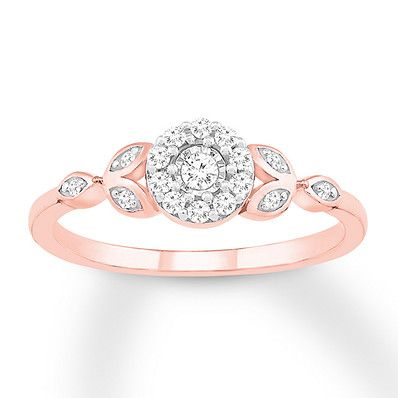 c89699750f199 Diamond Promise Ring 1/6 ct tw Round-cut 10K Rose Gold | Products ...