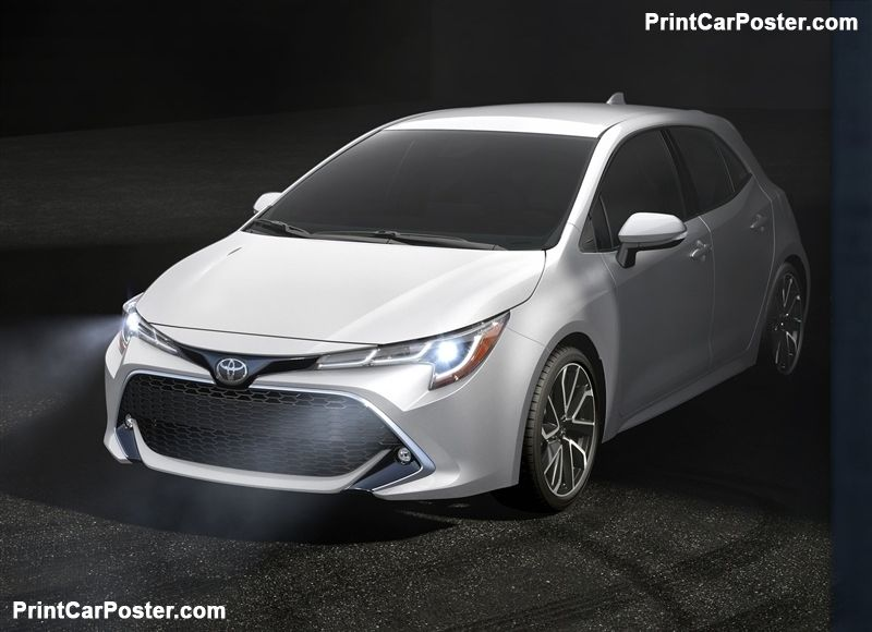 Toyota Corolla Hatchback 2019 Poster Hatchbacks And Toyota