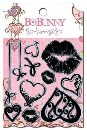 Bo Bunny Press - Smoochable Collection - Clear Acrylic Stamp at Scrapbook.com $3.49