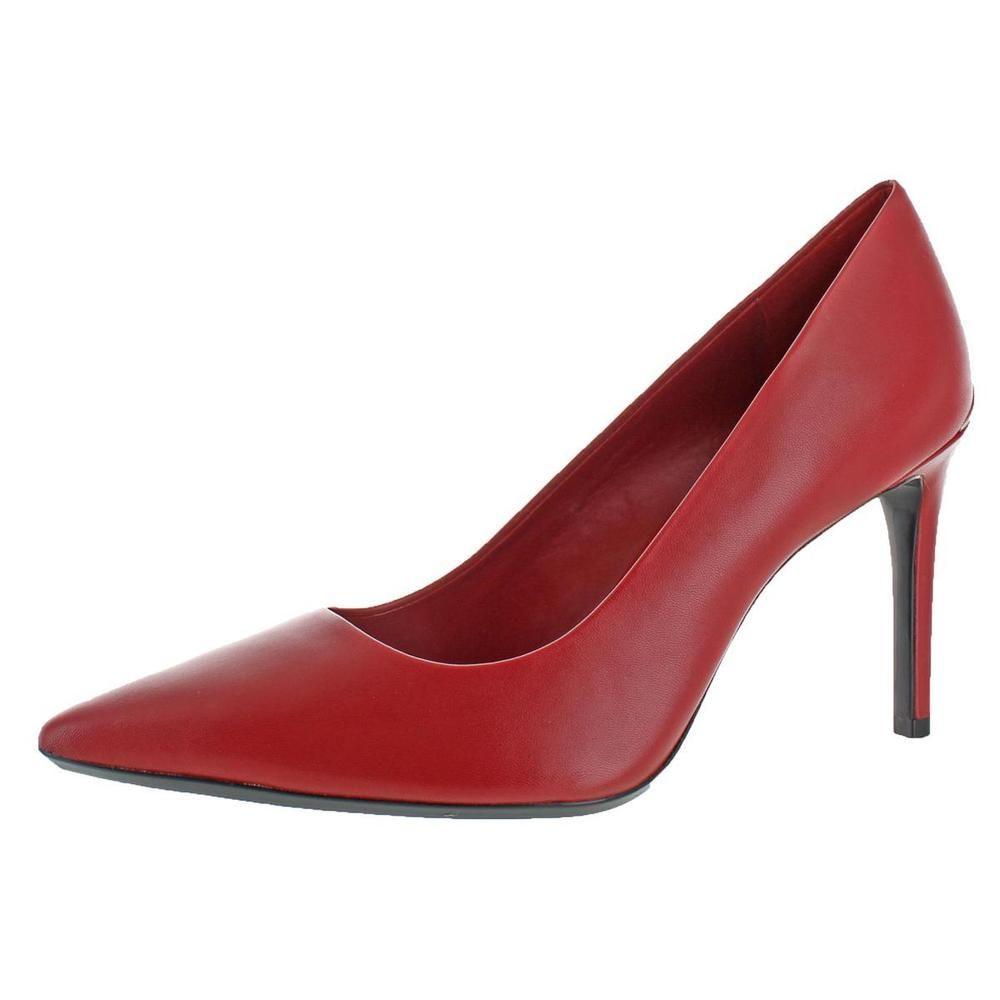 Calvin Klein Womens Ronna Red Pointed Toe Heels Heels 10 Calvin Klein Ronna Pumps Shoes