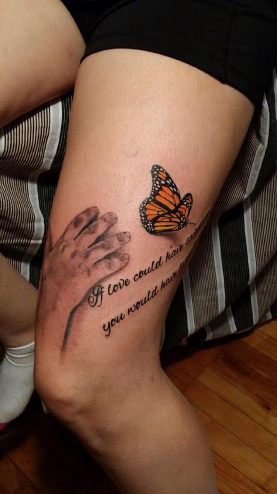 Memorial Tattoo For My Son If Love Could Have Saved You You Would