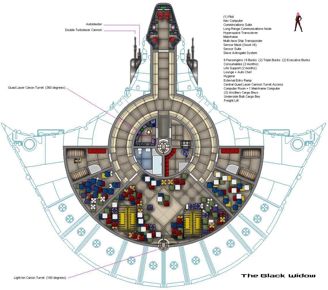 Kazellis Light Freighter  Black Widow Deck Plan