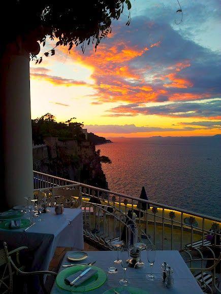 Sorrento The view from La Pergola restaurant (last