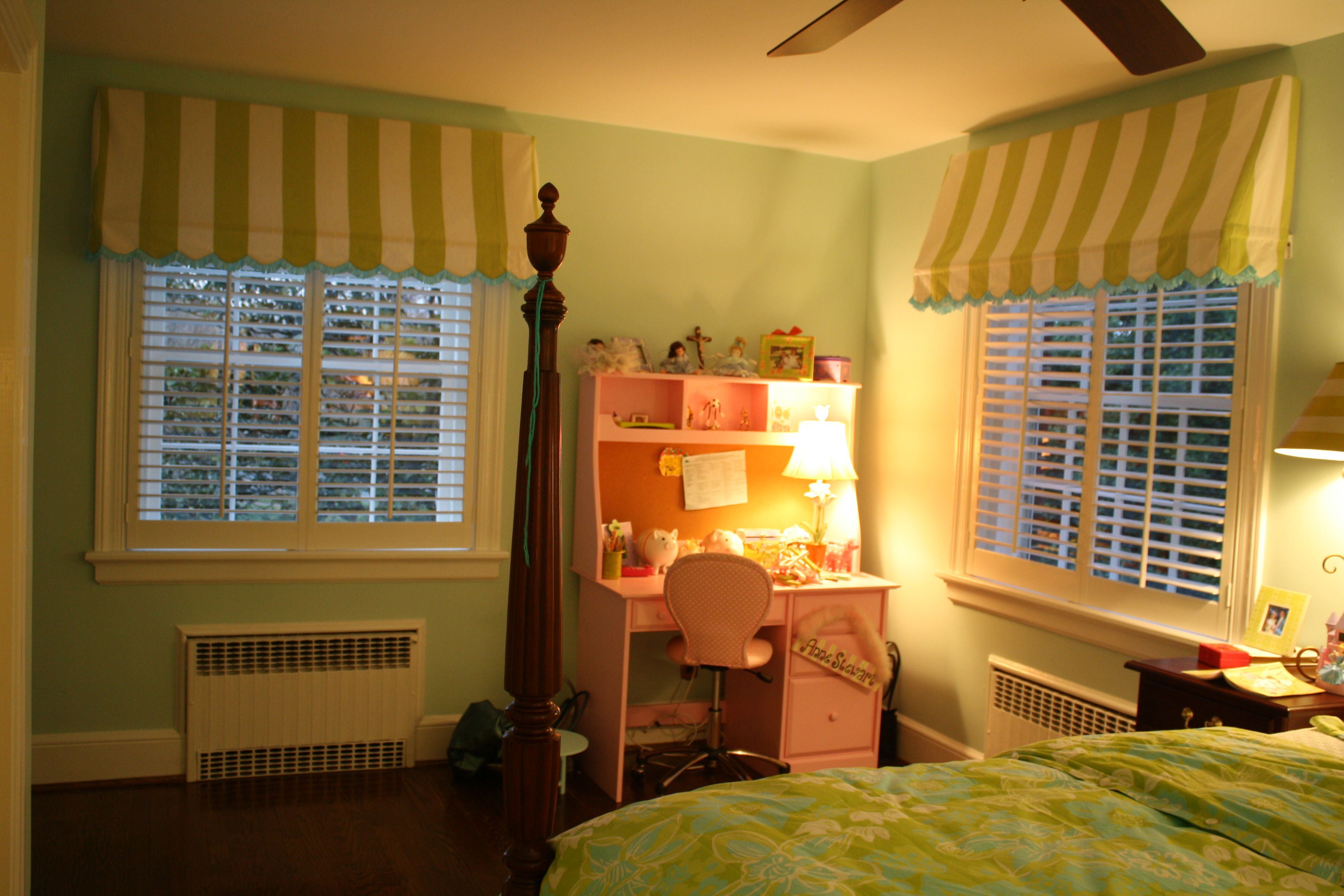 Scalloped Awning Curtains In My Daughters Room