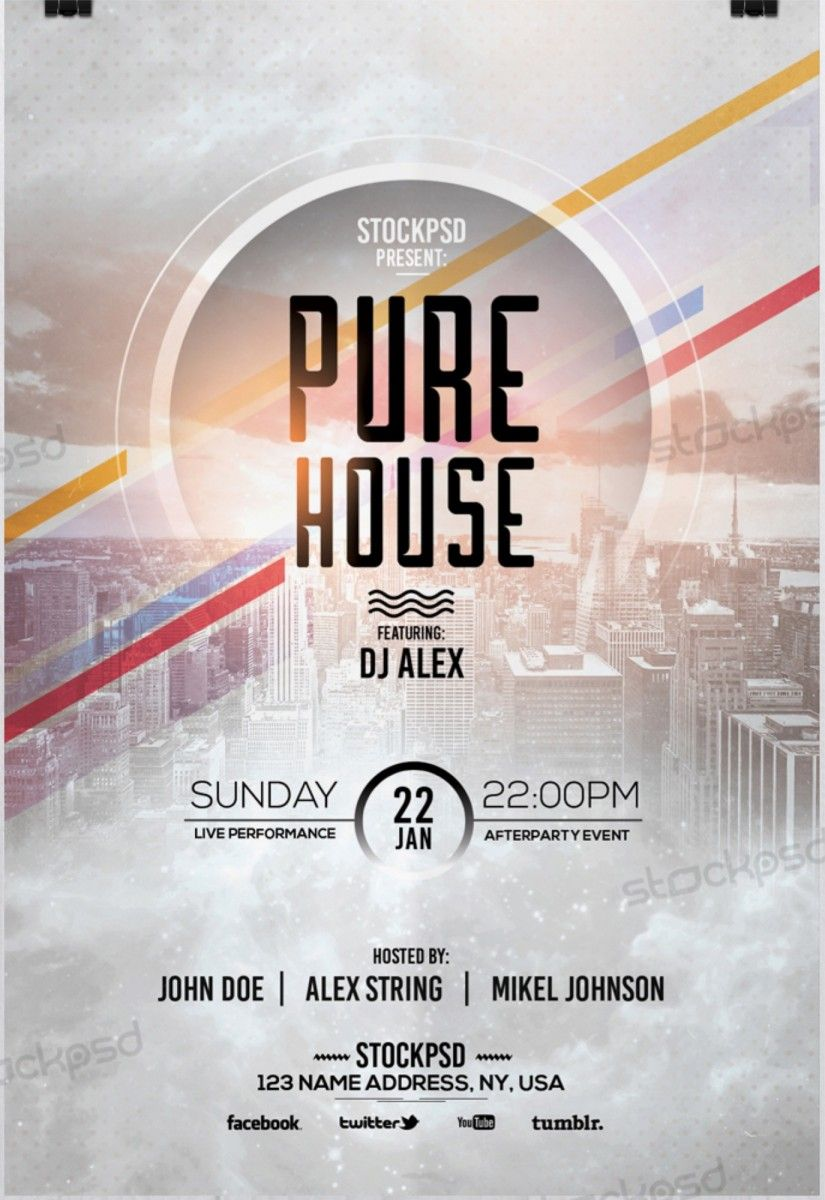 Pure House Free Psd Flyer Template Free Psd Flyer Download