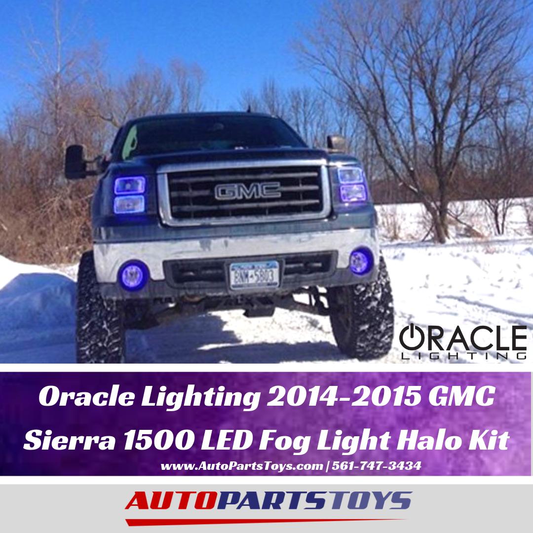 Oracle Lighting 2014 2015 Gmc Sierra 1500 Led Fog Light Halo Kit 2961 333 Gmc Sierra Gmc Sierra 1500 Gmc Sierra Accessories
