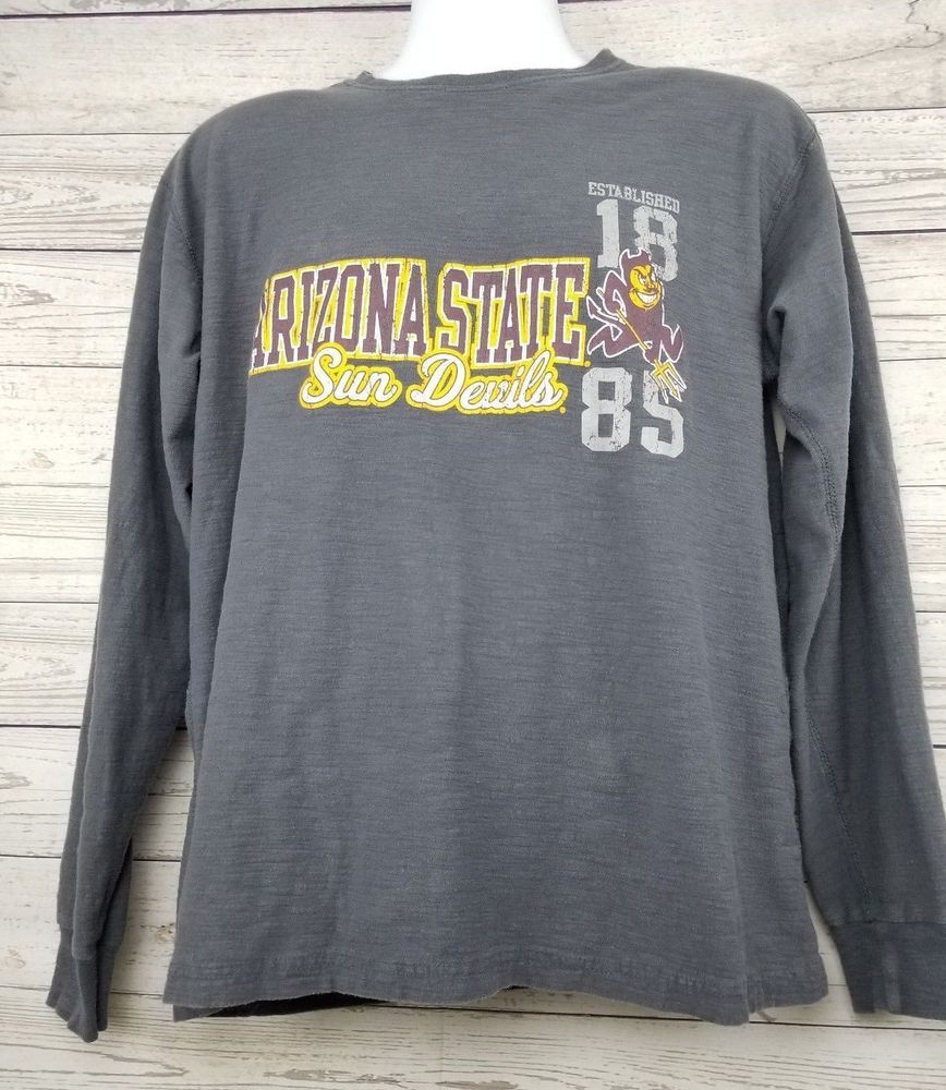 b1d595a6c17 Arizona State Sun Devils Gear Sports Sz Large Long Sleeve Gray Casual Shirt  ASU