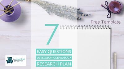 Develop a Genealogy Research Plan with 7 Simple Questions ...