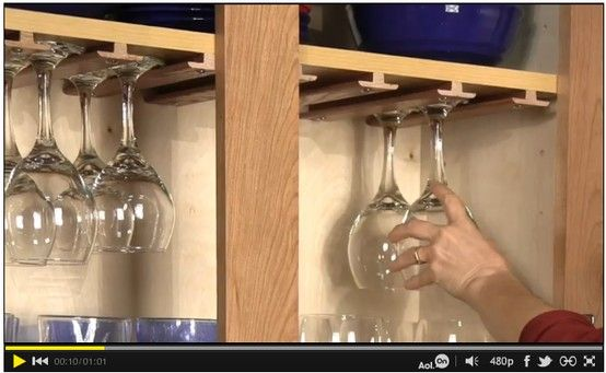 How To Store Wine Glasses Using T Mouldings For Hardwood