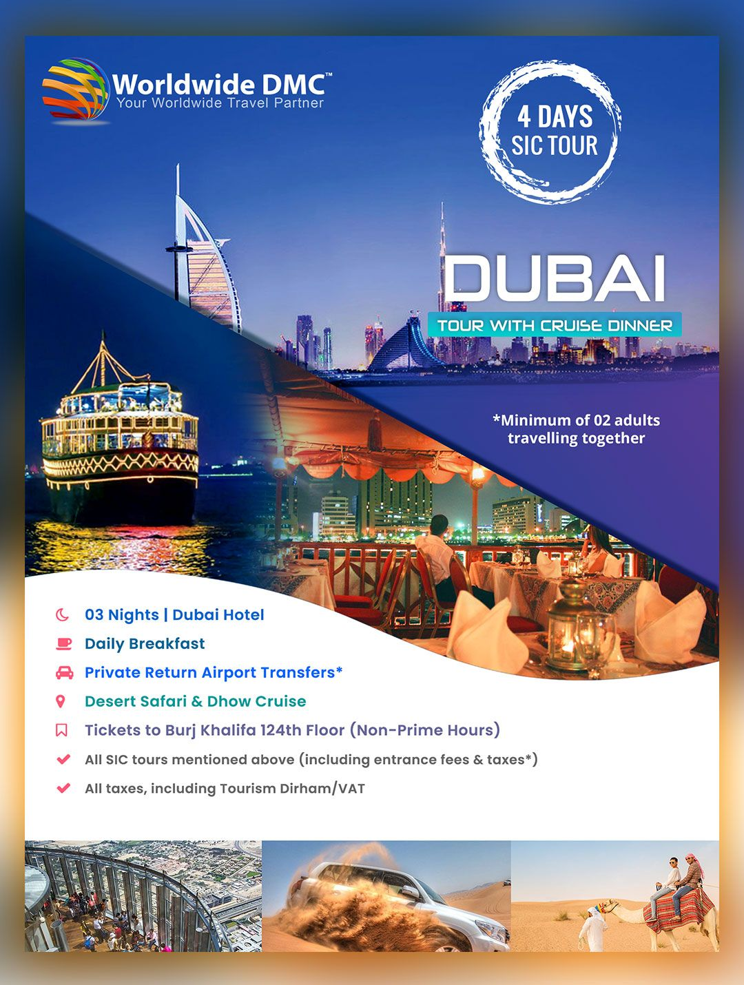 Offer Dubai Holiday Packages to your clients. Get