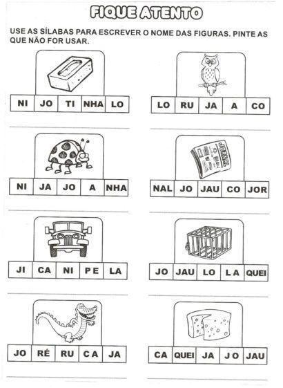 Atividades Com Ja Je Ji Jo Ju Para Imprimir Atividades Letra E