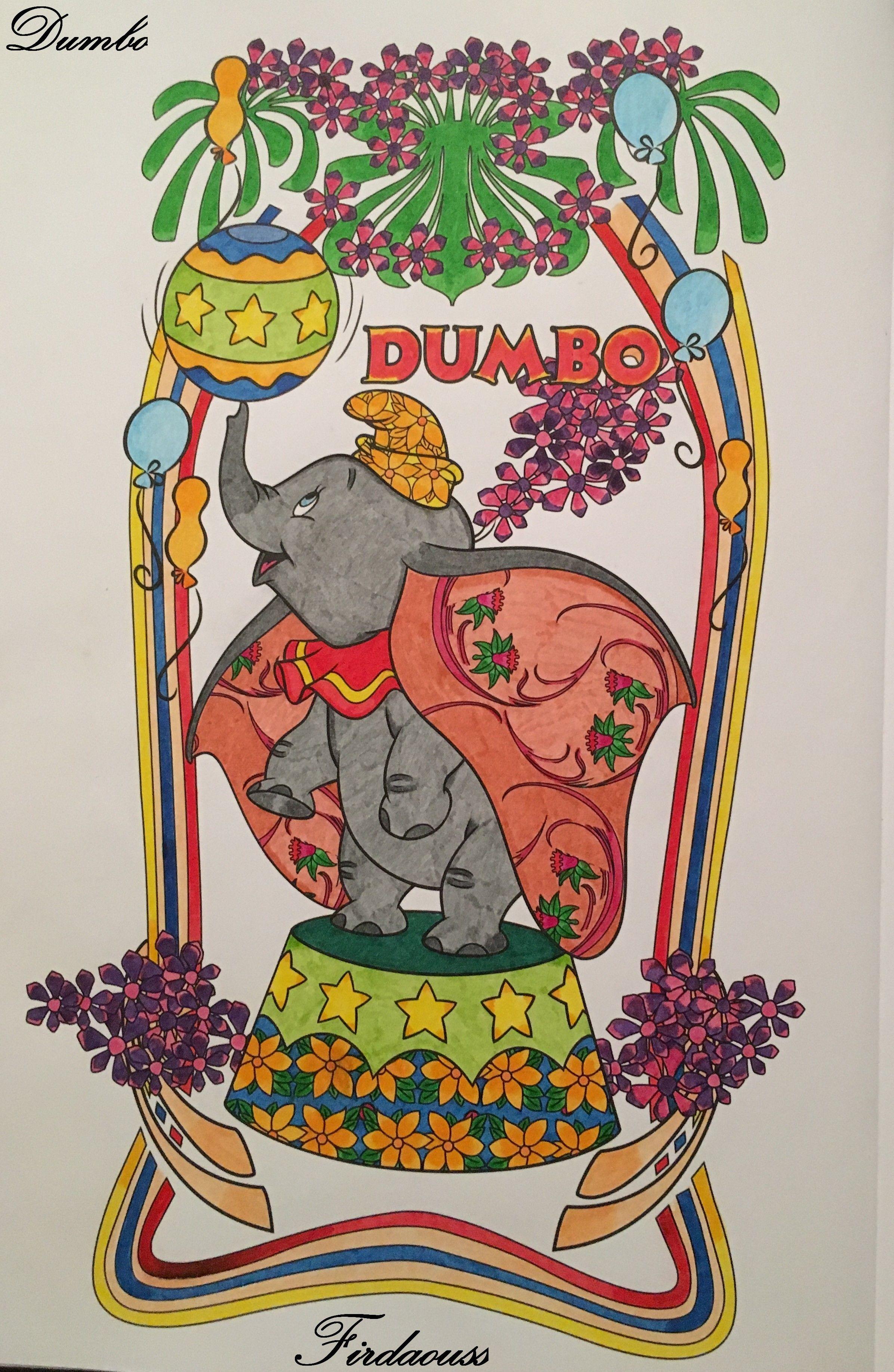 Coloriage Artdeco les classiques disney - Dumbo  Disney, Art