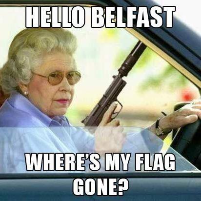 Belfast Flag Protests...