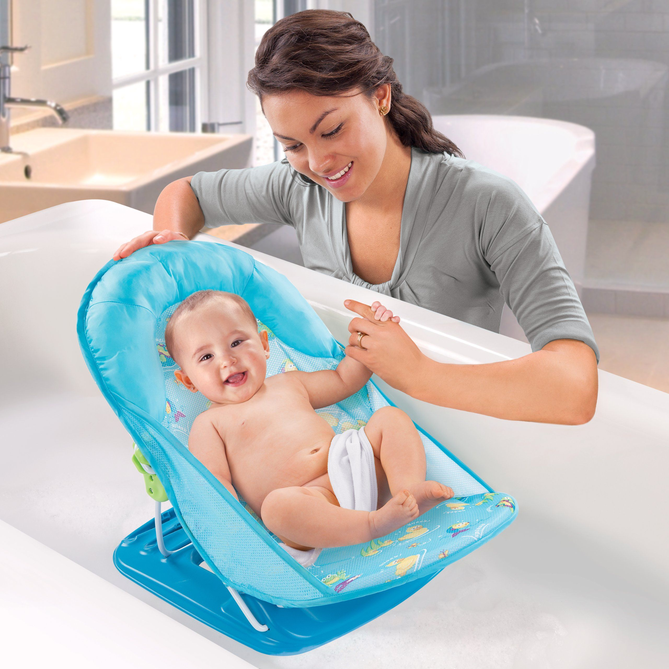 Amazon.com : Summer Infant Mother\'s Touch Deluxe Baby Bather, Blue ...