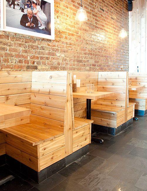 Sitzbank, Holz, Kojen, Boothseating
