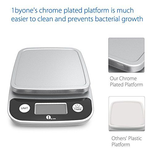 1byone digital kitchen scale precise cooking scale and baking scale multifunction with range from 0 04