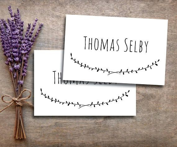 place card template editable place card ms word placecard template rustic place card