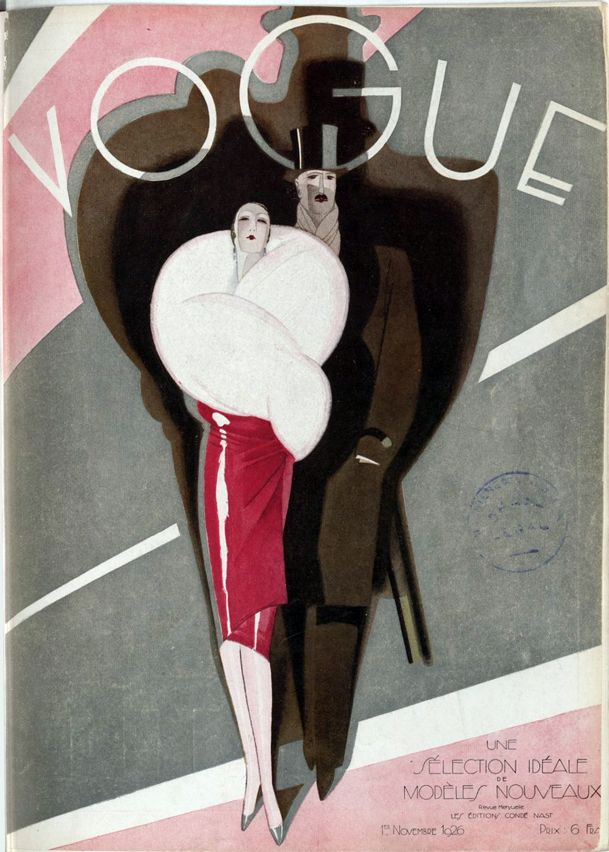 Front cover of Vogue magazine – November 1926. French National Library (Public Domain)