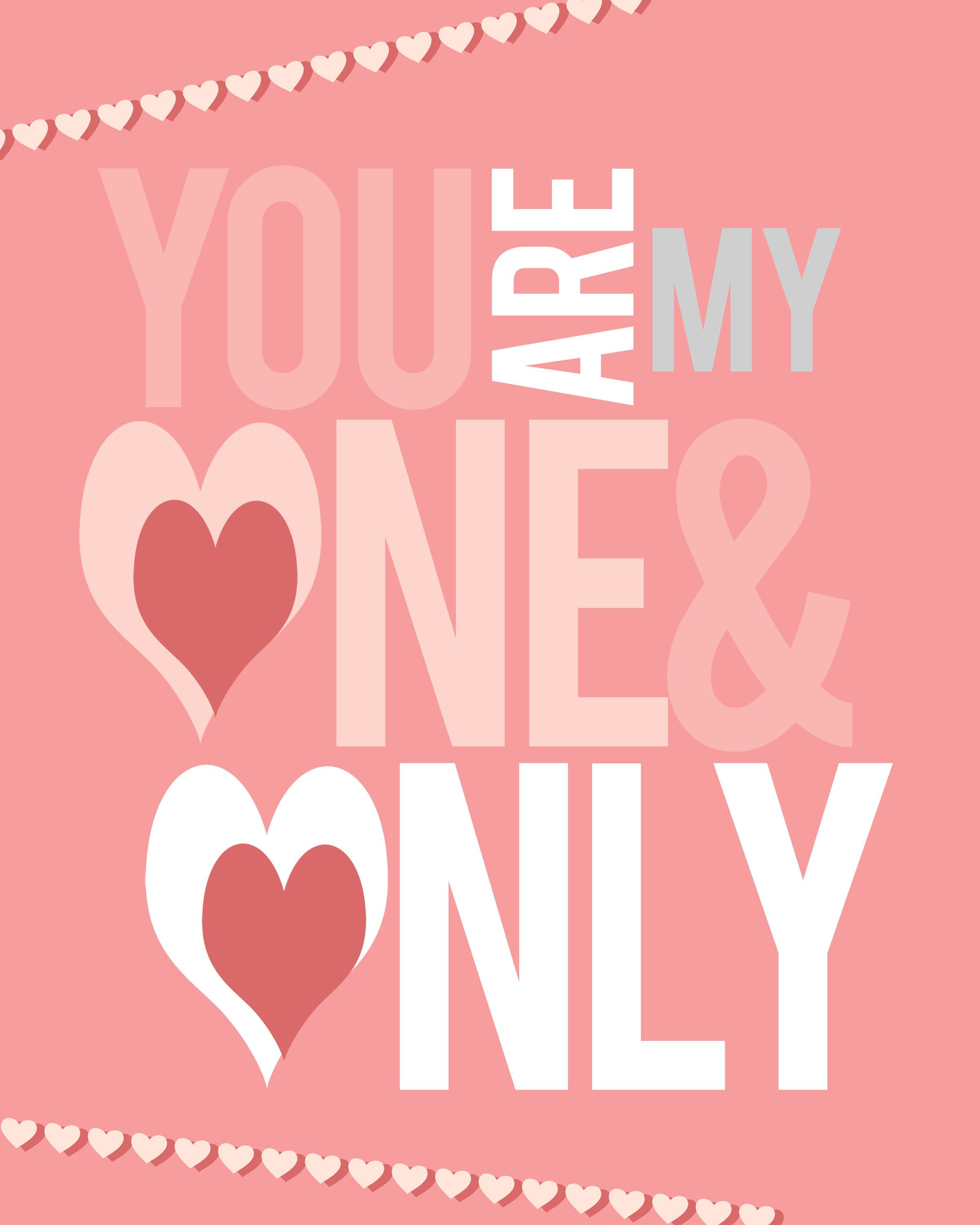 FREE Valentine Day Printables To Frame To Make A Part Of Your Room Special.  MAKE