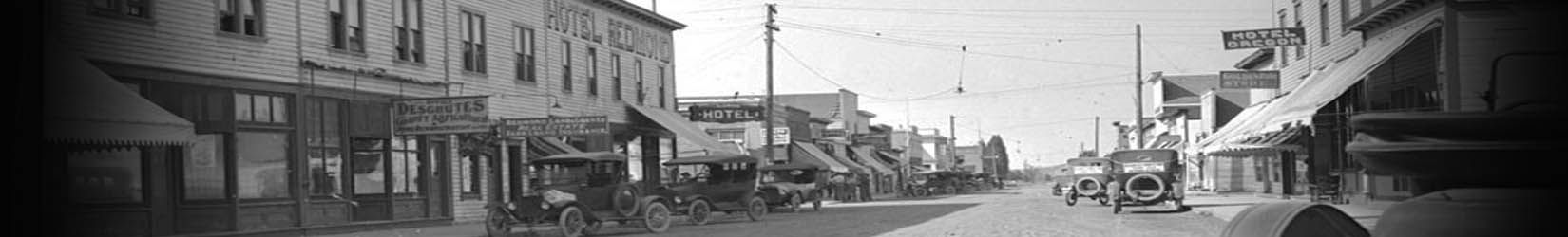 6th Street Looking North In Redmond Oregon The Hotel Before It Burned Down