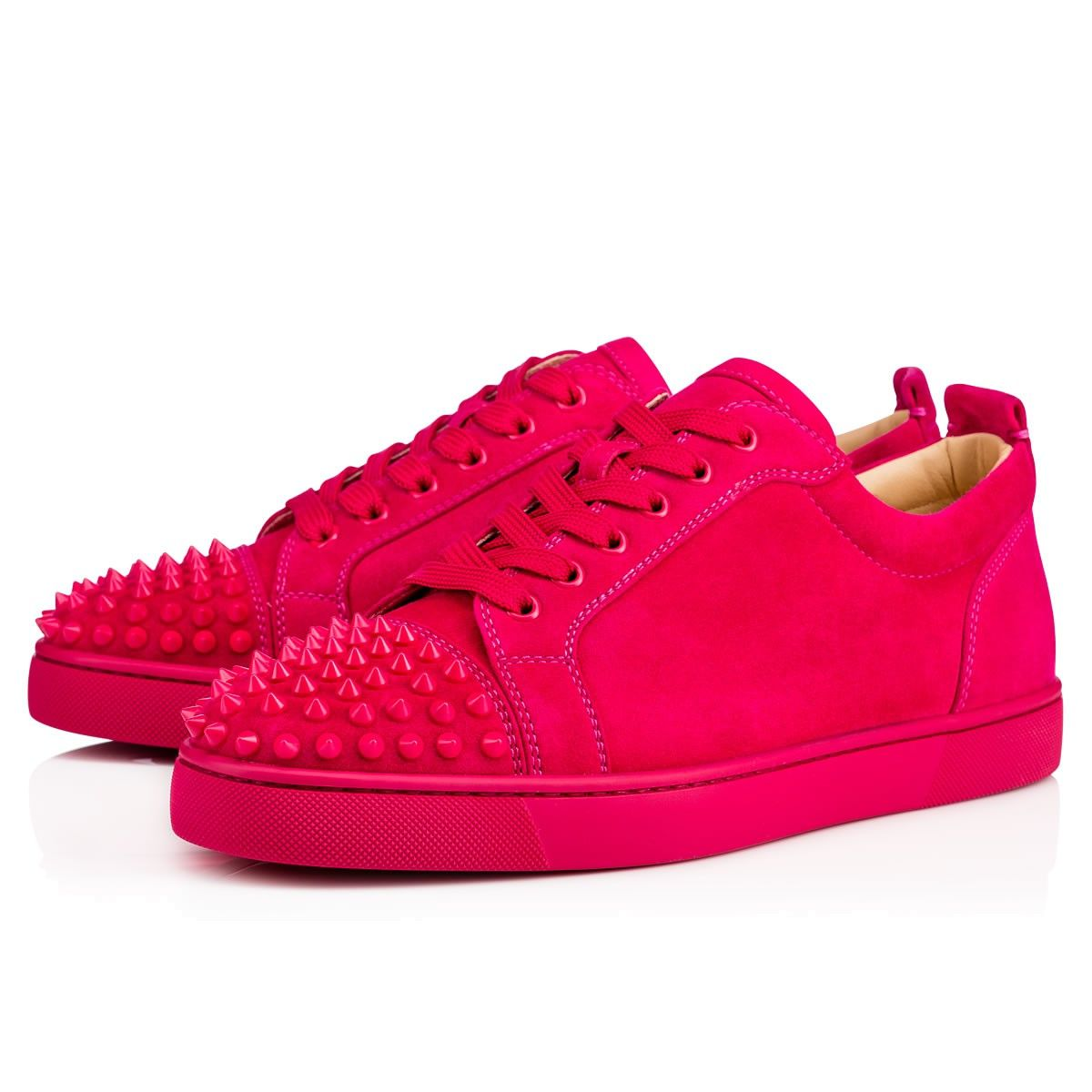 fd02f299fa7 CHRISTIAN LOUBOUTIN Louis Junior Spikes Men S Flat Rosa Suede.   christianlouboutin  shoes