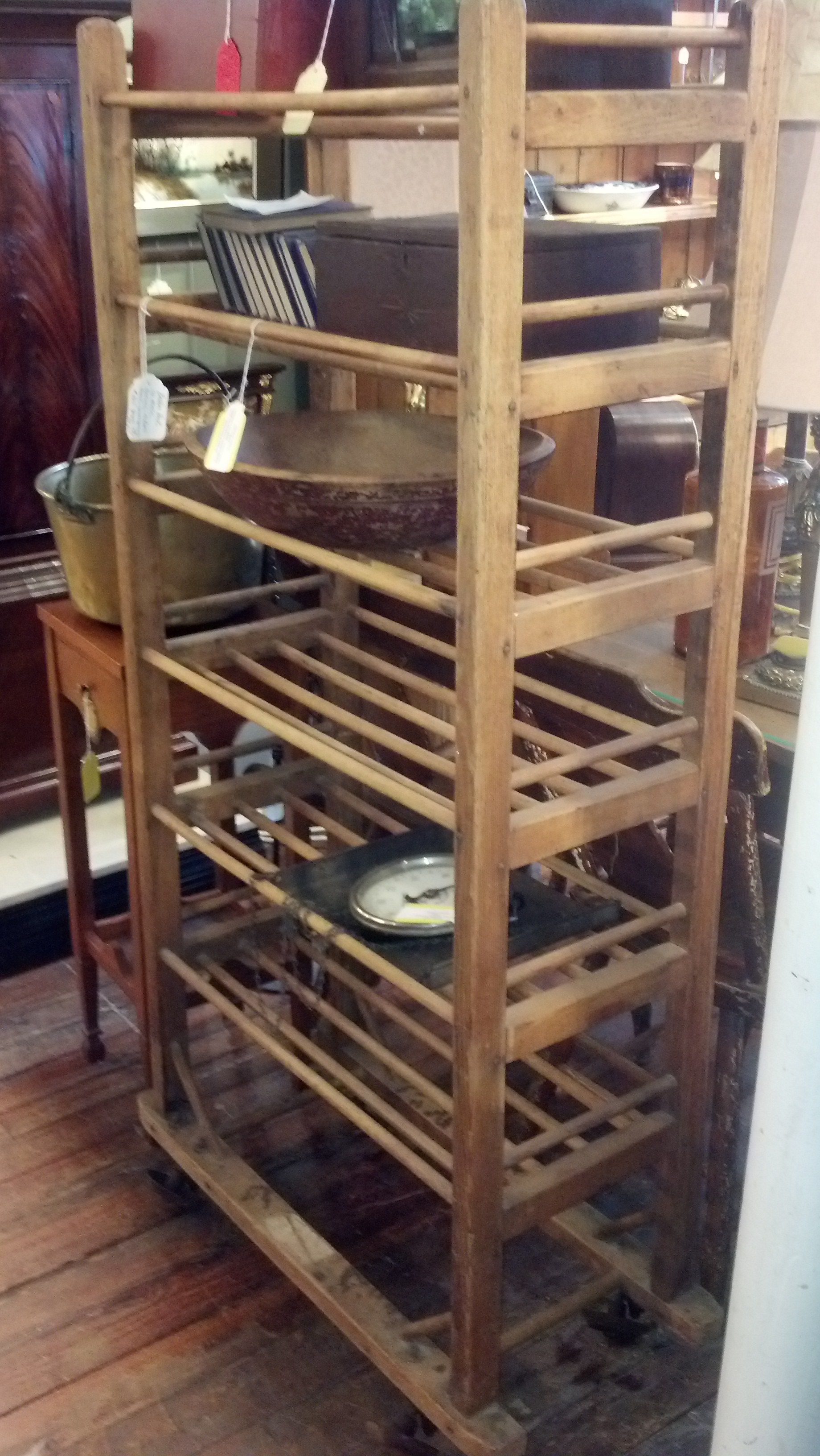Vintage Bakers Rack With Images Bakers Rack Decorating Pantry