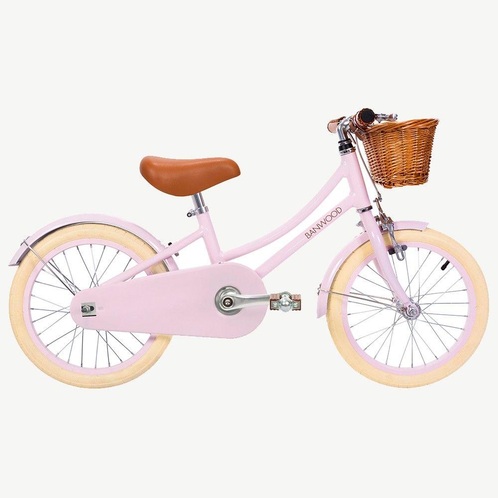 Banwood Kinderfahrrad Im Retro Design In Rosa 16 Zoll Mit Klingel Und Weidenkorb Empfohlen Alter 4 Bis 7 Jahre Kinder Fahrrad Kinderfahrrad Fahrrad