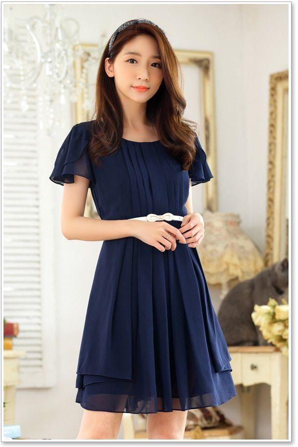 06bcbaa44f12 Wholesale Office Lady Korean Dress Y9837  Korean Dress Y9837  -  17.50    YOCO - Wholesale Clothing