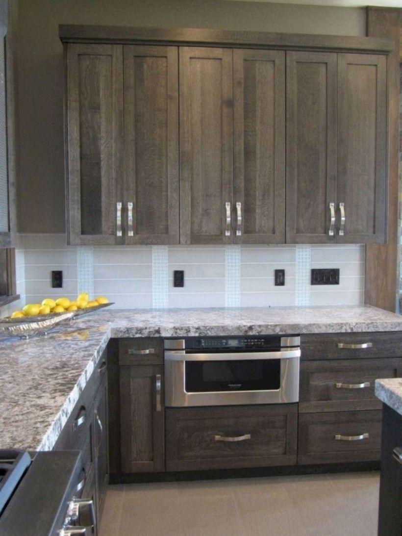 52 Cozy Color Kitchen Cabinet Decor Ideas Roundecor Stained Kitchen Cabinets Dark Grey Kitchen Cabinets Modern Grey Kitchen