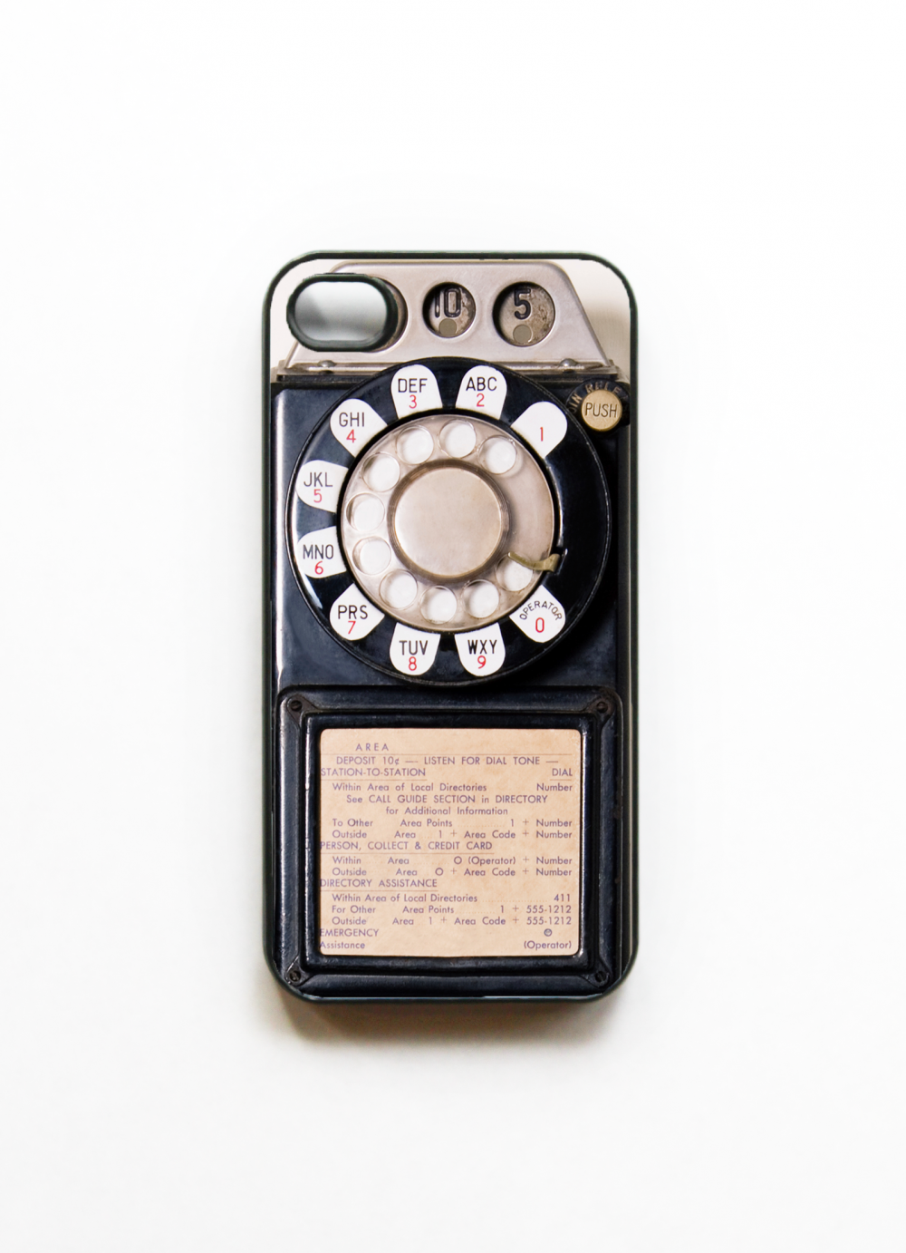 Payphone iphone 4 Case - Black. Cases for iphone 4 - Vintage Pay Phone iPhone 4 Case