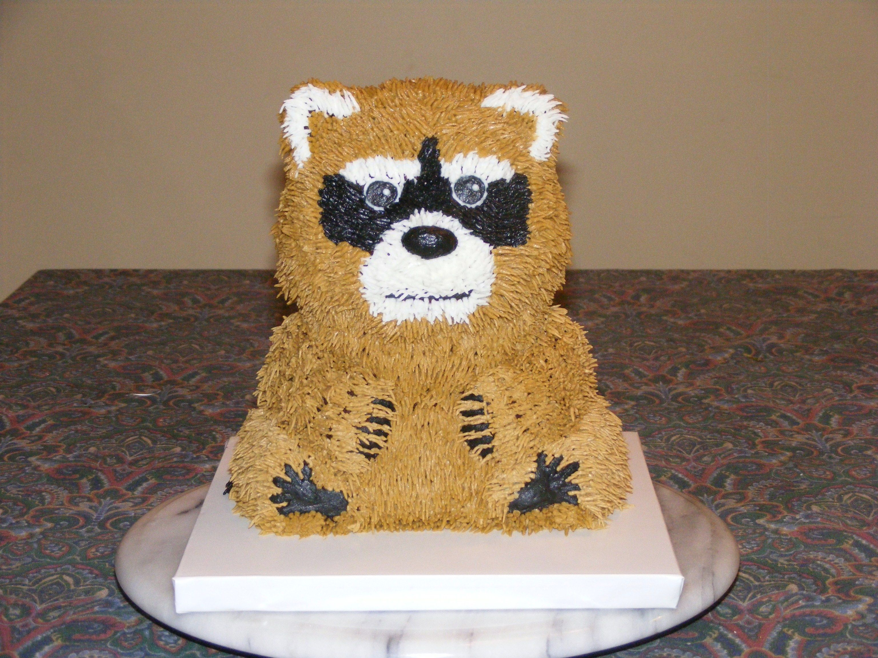 Raccoon Cake I Made This For A Bake Sale My Daughter S