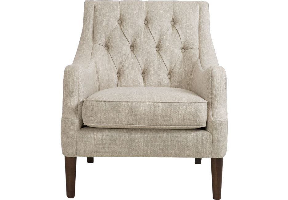Parknoll Cream Accent Chair Accent Chairs Beige Accent